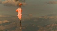 Stock Video Footage of oil & gas, gas flare, #22