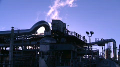Oil & gas, gas plant, #4 Stock Footage