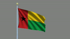 Flag of Guinea-Bissau  Stock Footage