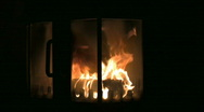 Stock Video Footage of Fire in the fireplace 12