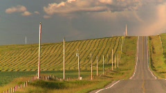 Lonely country road, #5 Stock Footage