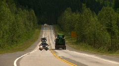 Mountain highway traffic, Trans-Canada Highway and traffic Stock Footage