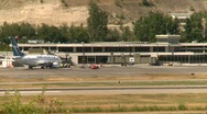 Aircraft, Kelowna air terminal and Boeing 737 Stock Footage