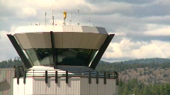 air traffic control tower, #7 close up - stock footage