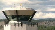 Air traffic control tower, #7 close up Stock Footage