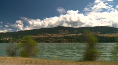 Drive plate, okanagan lake Stock Footage