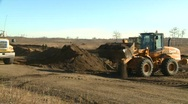 Stock Video Footage of construction, Front end loader and dump truck