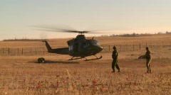 Military helicopter lift off, #2 Stock Footage