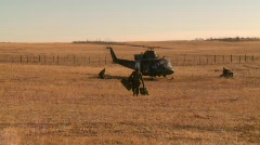 military, helicopter idle troops out, #1 - stock footage