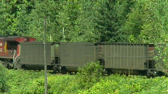 Railroad, coal train in the mountains, #1 Stock Footage