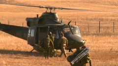 military, helicopter idle troops out, #3 - stock footage