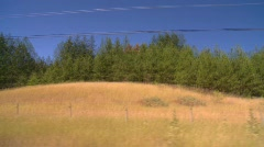 Drive plate, along dry scrubland, #9 time lapse Stock Footage