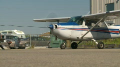 Aircraft, Cessna 172 idle, profile, medium  Stock Footage