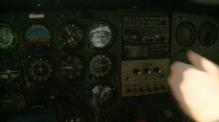 Aircraft, Cessna 172 instrument panel, #1 Stock Footage
