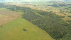 Aerial forests and pastures from 8000 feet ASL Stock Footage