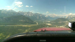 Stock Video Footage of aerial, view through windshield of Cessna 172