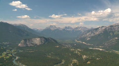 Aerial, rocky mountains Stock Footage