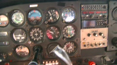 Stock Video Footage of aircraft, Cessna 172 instrument panel in flight, #2