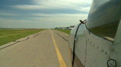 Aircraft, Cessna aircraft on runway, unique POV Stock Footage