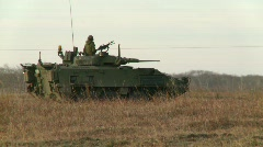 military, armored fighting vehicle. LAV3, #3 - stock footage