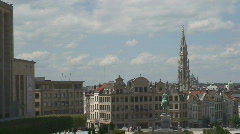 Stock Video Footage of Brussels cityscape