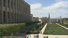 Brussels cityscape 2 Stock Footage