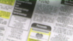 newspaper personals - stock footage