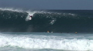 Stock Video Footage of awesome barrel then jump