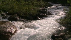 Stock Video Footage of whitewater stream, #1