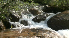 river and waterfall, whitewater mountain stream, #5 - stock footage