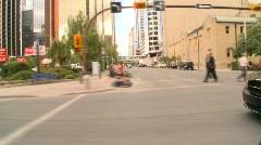 Drive plate, through city, Calgary, Alberta, #1 Stock Footage