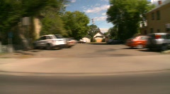 Drive plate, through city, Calgary, Alberta, #3 Stock Footage