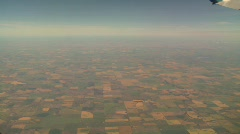 Aerial, farms and prairie, #3 sky wingtip and many farms Stock Footage