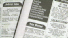newspaper help wanted - stock footage