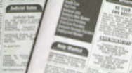 Newspaper help wanted Stock Footage