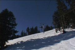 Ski Lift Time Lapse on Mountain in Oregon Stock Footage