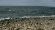 Rough ocean on the north side of curacao  Stock Footage