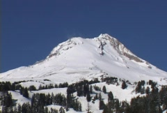 Snow blowing fast over Mountain Sequence Stock Footage