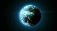 Earth Zoom In to  Clouds Layer Stock Footage