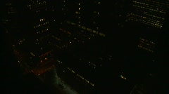 Night to day from 40th floor, New York City, time lapse Stock Footage