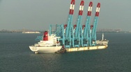 Stock Video Footage of crane ship