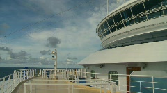 cruise ship, #7 bow and decks - stock footage