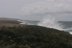 Rough ocean on the north side of curacao 5 NTSC Stock Footage