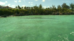 Cruising on water in Bermuda Stock Footage