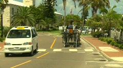 Bermuda old town horse and buggy, #2 Stock Footage