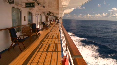 Cruise ship, #15 promenade deck Stock Footage