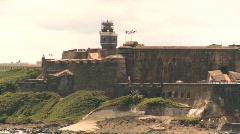 Fort San Felipe del Morro, San Juan fort from ocean, #4 Stock Footage