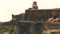 Fort San Felipe del Morro, San Juan fort from ocean, #3 Stock Footage