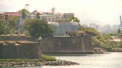 Fort San Felipe del Morro, San Juan fort from ocean, #1 Stock Footage