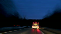 Time-lapsed drive behind an ambulance on a rural road. hd - stock footage